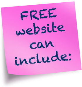 Free website can include